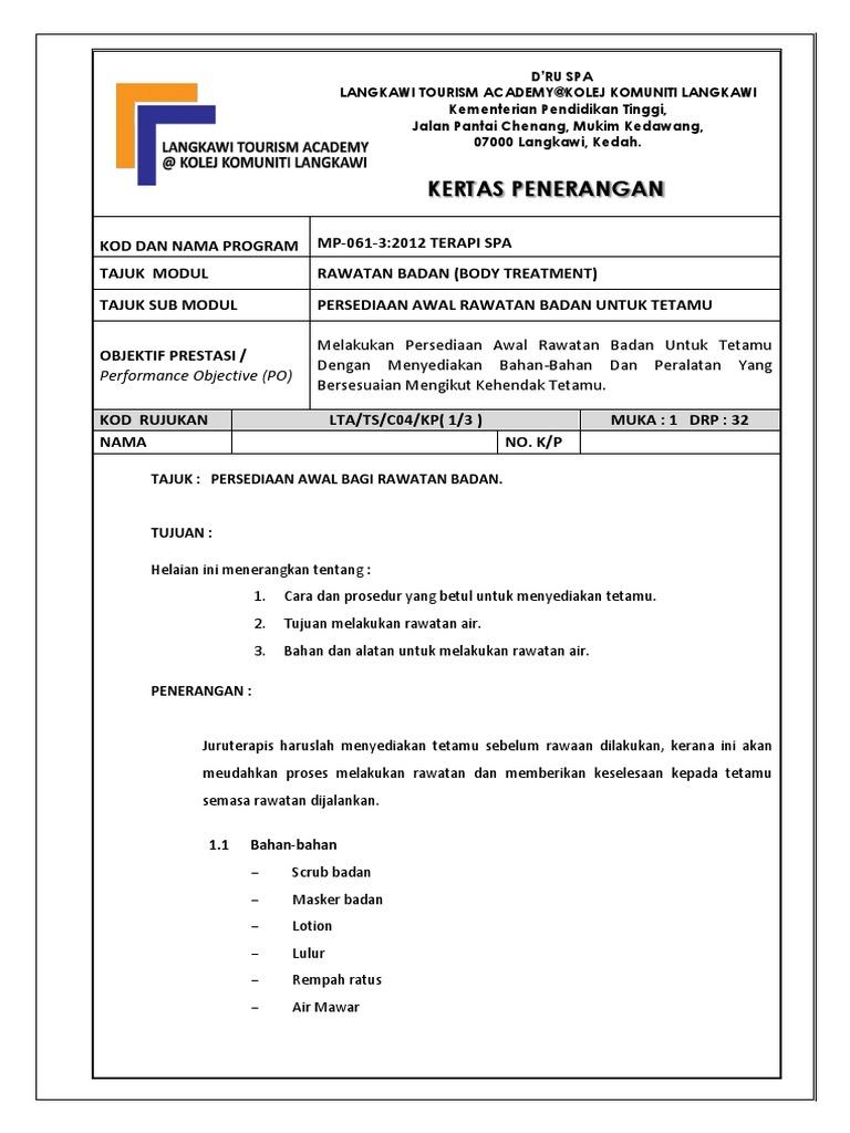 Kertas Penerangan C 04 Kp 1 Rawatan Badan Docx