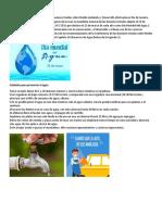 El Día Mundial Del Agua