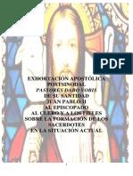 EXHORTACIÓN APOSTÓLICA