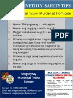 Crime Prevetion Safety Tips