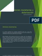 monetarias y dolarizacion