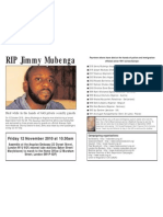 In memory of  Jimmy Mubenga
