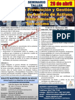 Seminario Lavado de Activo ABR2019