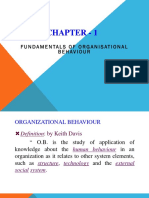 Organizational behaviours