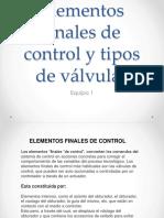 Elementos Finales de Control y Tipos de Válvulas Dd