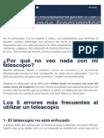 Telescopio 5 errores más frecuentes - AstroAficion