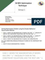 Optimization Technique Group 1