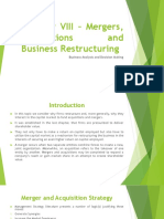 Mergers, Acquisitions and Business Restructuring