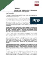 What Role for Finance - Jean-Claude Trichet at Faculdade de Economia UNL