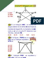 Puntos Notables Problemas Resueltos de Geometría Preuniversitaria PDF