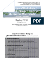 Projection of Hydrologic Impacts of Climate Change on the Korean Watersheds