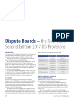 Dispute Boards – the New FIDIC Second Edition 2017 DB Provisions