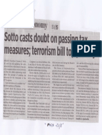Business World, Mar. 25, 2019, Sotto casts doubt on passing tax measures, terrorism bill top priority.pdf
