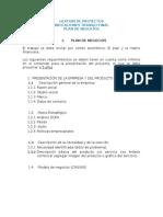 Formato Plan de Negocios - Gestión de Proyectos - Marzo 2019