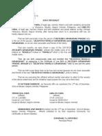 Affidavit Name Wrong Entry - Pandac
