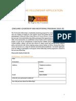 TuWezeshe Fellowship Application England
