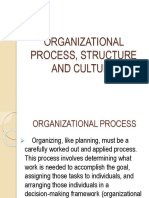 Organization Process Structure and Culture 1
