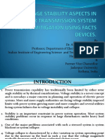 Voltage Stability Aspects in Power Transmission System and Its Mitigation Using FACTs Devices.