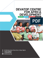 Profile of Devatop Centre for Africa Development-2018 Version
