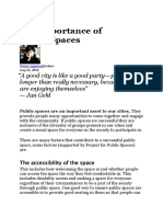 Importance of Urban Public Spaces.docx