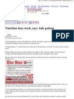 Article sur l'amélioration du système immunitaire d'une personne atteinte du SIDA