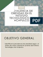 Prevalencia de Obesidad en El Instituto Tecnológico De Acapulco