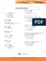 Useful Formulas and Calculations