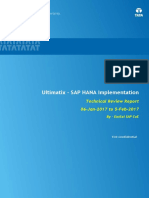 Ultimatix HANA Implementation - Review Report V 1.0.pdf