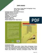 Buku Hukum - Penanganan Korban Tindak Pidana Perdagangan Orang