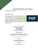 Brochure-curso Español Para Extranjeros