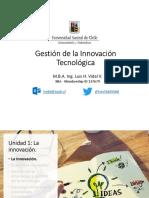 Unidad 1. Gestión de La Innovación Tecnológica