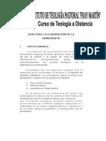 Monografia. Guía.  CTD