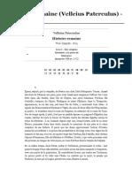 Histoire Romaine (Velleius Paterculus) - Livre I - Wikisource