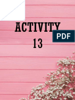 Activity 13