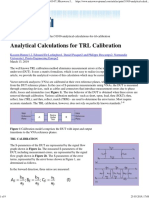 Analytical Calculations for TRL Calibration _ 2019-03-07 _ Microwave Journal