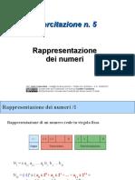 Esercitazione 5 Rappresentazione Informazione 2010-2011