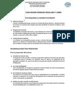 Guía Práctica Para Rendir Exámenes Regulares y Libres