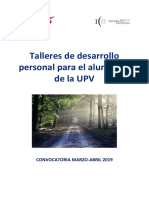 Talleres Marzo Abril 2019 C