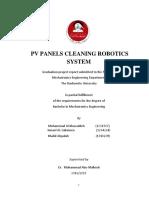 Autonomous Solar Panel Cleaner Report