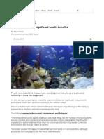 Aquariums 'Deliver Significant Health Benefits' - BBC News