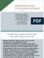 Membersihkan Dan Mencukur Daerah Operasi