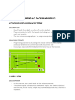 forehand ad backhand drills