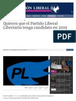 Www Visionliberal Com Ar Nota 4538 Quieren Que El Partido Li