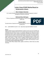 Supplier Classification Using UTADIS Method Based on Performance Criteria1
