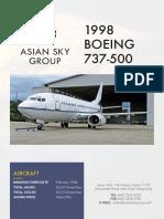 Aircraft Spec 737-500 SN28996