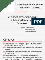 Mudança Organizacional e Administração do Estresse.