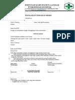 Formulir Pernyataan Penolakan Pengobatan