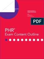 Phr Exam Content Outline