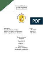 Analisis de resultados electronica industrial