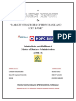 6050. Market Strategies of Hdfc Bank and Icici Bank